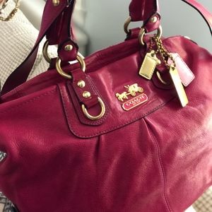 Coach Leather Madison Satchel or Crossbody